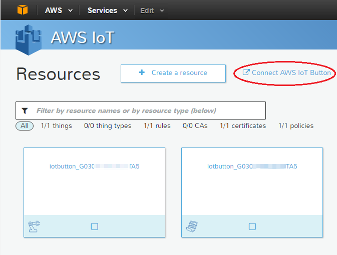 AWS IoT Button 추가