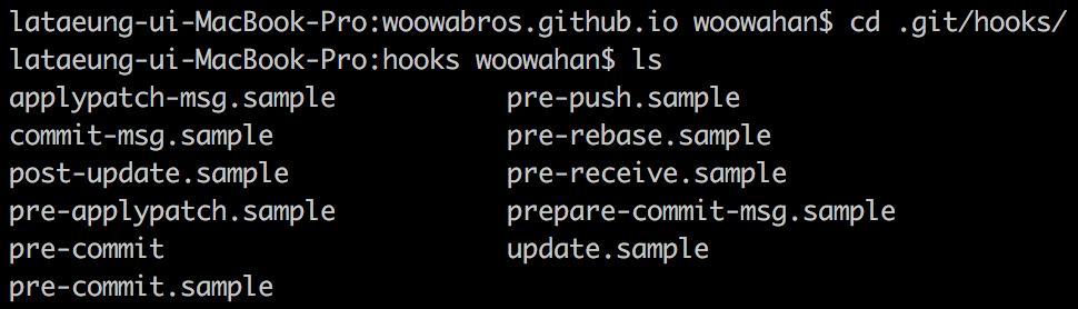 Git Hooks List