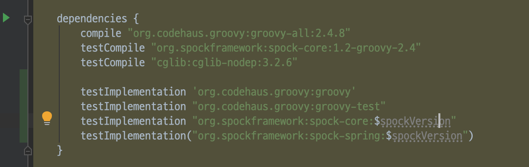 (`build.gradle`)Groovy DSL